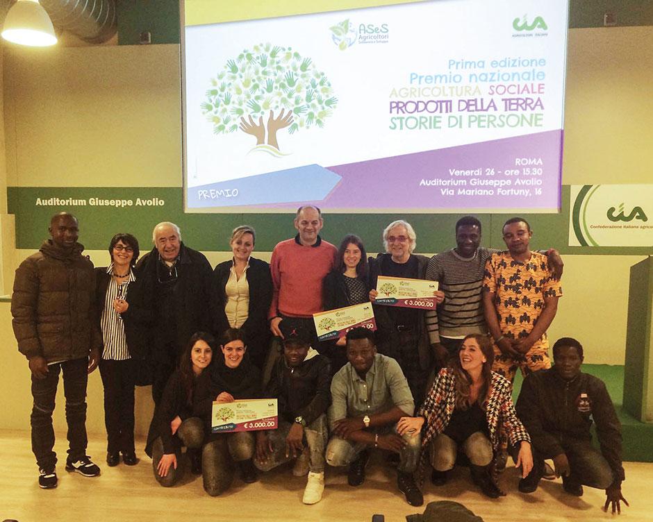 premio agri social 2017 foto di gruppo